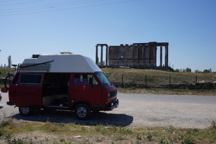 Arriving at Zeus temple